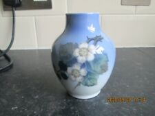 Vintage Royal Copenhagen Porcelain Vase Blackberries