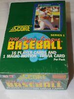 1991 Score Baseball Series 1 Wax Box unopened Photo Quality Payer & Trivia cards