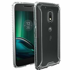 POETIC Affinity Clear Case 【Thin Dual Material】Bumper For Moto G Play / G4 Play