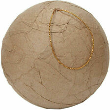 6 -- 80mm Wrinkled Paper Mache Ball Ornaments - 3.15 inches - Christmas