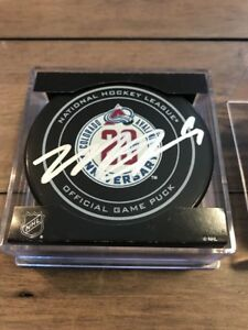 Signed Matt Duchene 20th anniversary Colorado Avalanche Game Puck