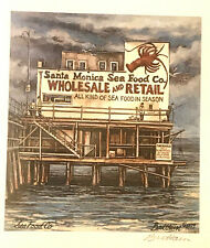 "TOM BRITTAIN ""THE SEA FOOD CO."" HAND SIGNED LITHOGRAPH -NEW/SEALED SANTA MONICA"