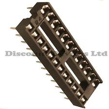 "5x 24 Pin RoHS PCB IC Socket DIL/DIP 24 0.3"""