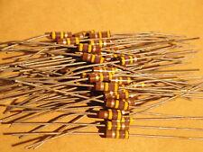 50 EA ALLEN BRADLEY - 470K 1/2W 10% Carbon Comp resistors Fender Marshall amp