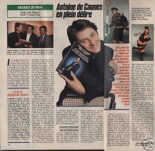 Coupure de presse Clipping 1991 Antoine de Caunes  (1 page 1/2)