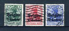 (B) OC2/4 gestempeld 1914 - Duitse zegels met opdruk Belgien