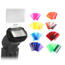 30 Colors Filters Gel Pack Kit w/ Barndoor & Reflector for Canon Yongnuo Flash