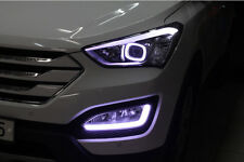 Front Head Light Lamp LED Angeleye & DRL Module for Hyundai 2013+ Santa fe Sport