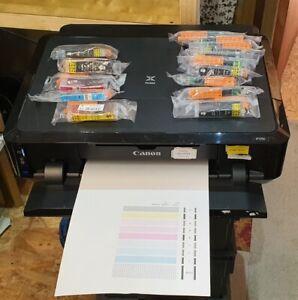 Canon Pixma iP7250 Inkjet Printer + 15 Inks USED WORKING - CD DVD Disc Printer B