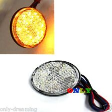 Round Reflector Amber LED Tail Brake Stop Light For 3rd Toyota ATV RV Motorcycle