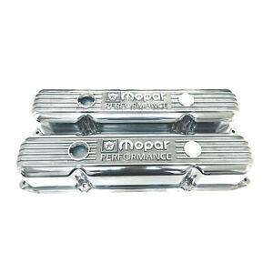 NOS Mopar 383 400 440 Polished Valve Covers, Die Cast Aluminum with Grommets