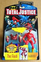 """KENNER DC TOTAL JUSTICE  """"THE FLASH""""  ACTION FIGURE NEW/UNOPENED 1996"""