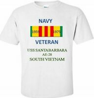 USS SANTA BARBARA  AE-28  *SOUTH VIETNAM* VIETNAM VETERAN RIBBON 1959-1975 SHIRT