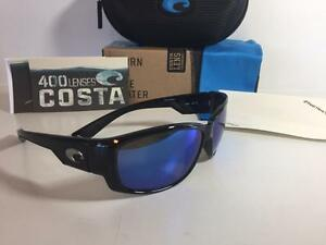 New Costa del Mar Luke Bryan Polarized Sunglasses Black/Blue 400G Glass Fishing
