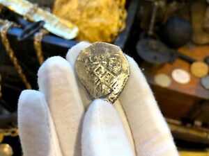 MEXICO 8 REALES 1714 DATED 1715 FLEET SHIPWRECK COA PIRATE GOLD COINS TREASURE