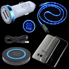 DC Car Charger Wireless Pad Hard Case LED USB Cable for Samsung Galaxy S7 edge