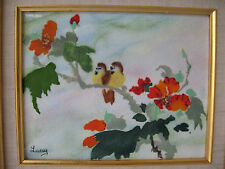 JEAN LUCEY SIGNED FRANCE IMPRESSIONIST ENAMEL ON COPPER FRAMED PAINTING