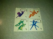 US Mint Never Hinged Postage Stamps Scott #1749-52 American Dance 13c  FV 52c