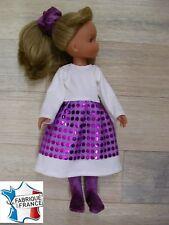 Ens. robe NEUVE pour Corolle Les Chéries 33 cms Ref.écru violet
