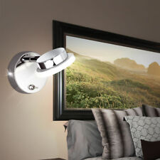 Applique LED luminaire mural lampe spot mobile chrome éclairage salle de séjour