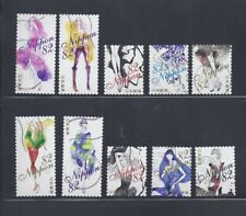 Japan 2017 Greetings Fashion 82Y Complete Used Set of 10 Sc# 4139 a-j