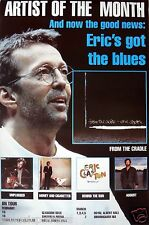 "ERIC CLAPTON ""GOT THE BLUES - FROM THE CRADLE"" GIANT SUBWAY U.K. PROMO POSTER"