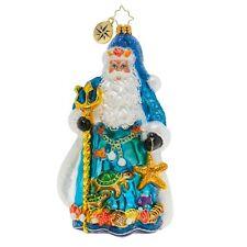 New Christopher Radko Seas The Day Santa Christmas Ornament 1019832