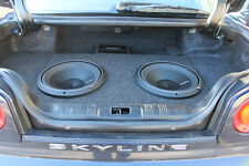 EMPTY! Nissan Skyline R34 boot install - Subwoofer box - 12inch enclosure