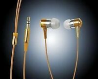 EARPHONES EARBUDS FOR iPOD MP3 MP4 IN GOLD **NEW**
