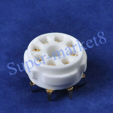 6pc 8pin Octal Ceramic Gold Tube Socket 6SN7 KT66 KT88 EL34 5U4G 6CA7 K8A PCB
