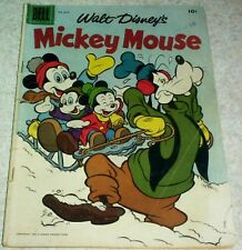 Walt Disney's Mickey Mouse 52, VG (4.0) Unlighted Lighthouse! 50% off Guide!
