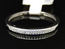 10K Ladies White Gold Pave Round Diamond Engagement Wedding Fashion Band Ring