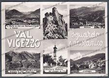 VERBANIA VAL VIGEZZO 34 VEDUTINE Cartolina FOTOGRAFICA viaggiata 1952