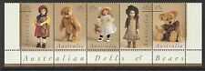 Australia Sc#1601a Mint NH Strip of 5 1997 Dolls