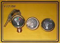 IH Farmall Gauge Set Temp,Oil Pr,Ampere 240,300,330,