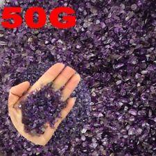 50g Mini-Amethyst Natural Crystal Stone Point Quartz Rock Chips Lucky Healing