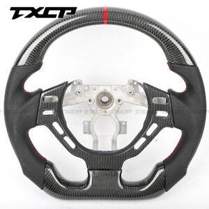 Real Carbon Fiber Car Steering Wheel For Nissan GTR R35 /including Center Trim