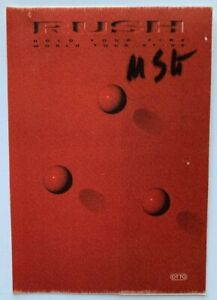 RUSH 1987 Hold Your Fire tour Backstage pass Michael Schenker Group