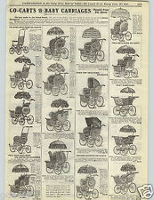 1906 PAPER AD Baby Buggies Biggy Carriage Reed Loom Woven USA American Made Twin