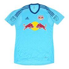 New York Red Bulls MLS Adidas Men's Bright Cyan Short Sleeve Goalkeeper Jersey