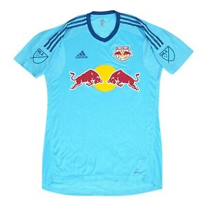 New York Red Bulls MLS Adidas Men's Bright Cyan Short Sleeve Goalkeeper Jersey