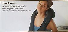 Neck And Back Massager Shiatsu Heat Therapy Kneading Back Muscle Brookstone