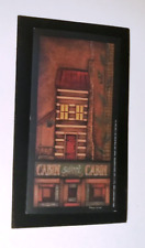 CABIN SWEET CABIN primitive lodge country  wall art rustic decor wood sign 4.5x8