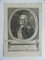 Retrato Siglo XVIII Jean-Louis Pequeño Médico Grabado Original Daumont Año 1708