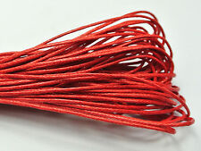 100 Meters Red Waxed Cotton Beading Cord 1mm for Bracelet Necklace
