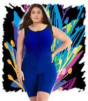 Aquatard Unitard boyleg professional Woman swimsuit onepiece plus 2XL-22/24
