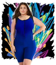 Aquatard Unitard boyleg professional Woman swimsuit onepiece plus  2XL-22/24