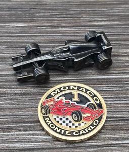 Monaco Monte Carlo F1 Racing Car Magnet & Lucky Token Coin Souvenir Casino Chip