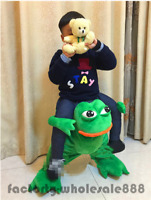 Cosplay Children Frog Funny Ride On Mascot Parade Costume Dress Kids Halloween