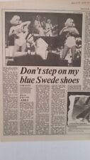 ABBA 'blue Swede shoes' 1977 UK ARTICLE / clipping